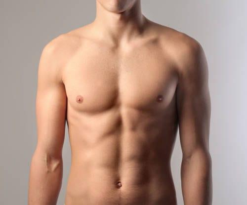resultado de la reducción de pecho masculina