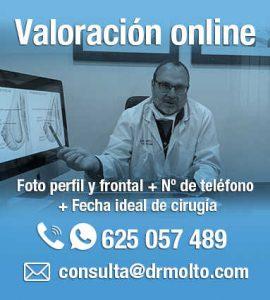 Videoconsulta cirugia estetica en Valencia Clínica Dr. Moltó